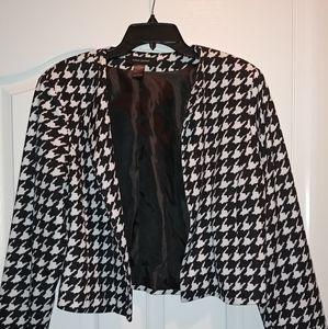 Ashley Stewart Houndstooth Jacket. Size 1X
